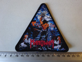 MANOWAR - THE LORD OF STEEL ( BLACK BORDER ) TRIANGLE WOVEN