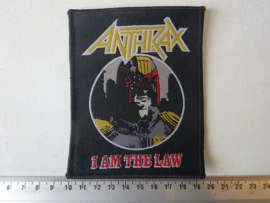 ANTHRAX - IAM THE LAW ( WOVEN BLACK BORDER )