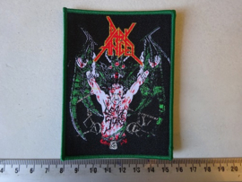 DARK ANGEL - LEAVE SCARS ( GREEN  BORDER ) WOVEN