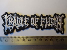 CRADLE OF FILTH - WHITE LOGO ( SHAPED )
