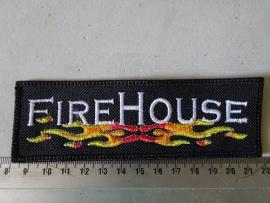 FIRE HOUSE - WHITE LOGO + FLAMES