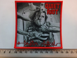 QUIET RIOT - CONDITION CRITICAL ( RED BORDER ) WOVEN