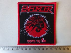 ENFORCER - DEATH BY FIRE ( RED BORDER ) WOVEN