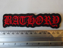 BATHORY - RED SHAPED LOGO