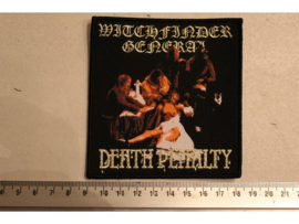 WITCHFINDER GENERAL - DEATH PENALTY ( BLACK BORDER ) WOVEN
