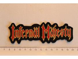 INFERNAL MAJESTY - RED/YELLOW NAME LOGO