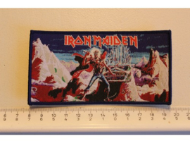 IRON MAIDEN - THE PANTHOM OF THE OPERA ( BLUE BORDER ) WOVEN