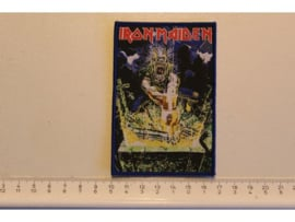 IRON MAIDEN - NO PRAYER FOR THE DYING ( BLUE BORDER ) WOVEN