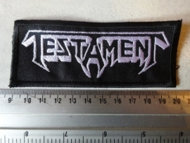 TESTAMENT - WHITE LOGO ( NON SHAPED )