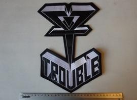 TROUBLE - BLACK/WHITE LOGO