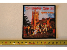 WITCHFINDER GENERAL - FRIENDS OF HELL ( BLACK BORDER ) WOVEN
