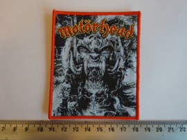 MOTORHEAD - GOD WAS NEVER ON YOUR SIDE ( RED BORDER ) WOVEN