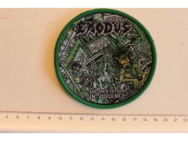 EXODUS - ANOTHER LESSON IN VIOLENCE ( GREEN BORDER ) WOVEN