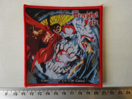 MERCYFUL FATE - COUNTDOWN TO THE COVEN ( WOVEN. RED BORDER )