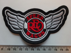 REO SPEED WAGON - RED NAME LOGO + WINGS