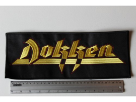 DOKKEN - YELLOW/RED NAME LOGO ( 35 CM )