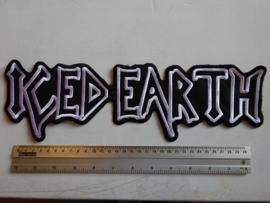 ICED EARTH - BLACK/WHITE NAME LOGO