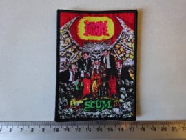 NAPALM DEATH - SCUM ( BLACK BORDER ) WOVEN