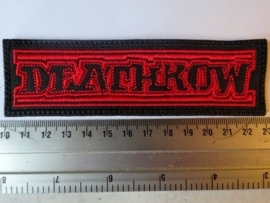 DEATHROW - RED/BLACK LOGO
