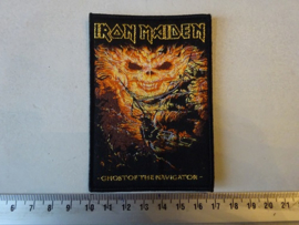 IRON MAIDEN - GHOST OF THE NAVIGATOR ( BLACK BORDER ) WOVEN