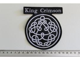 KING CRIMSON - WHITE NAME LOGO + SYMBOLS
