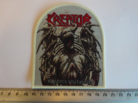 KREATOR - VIOLENCE UNLEASHED ( BEIGE BORDER ) WOVEN