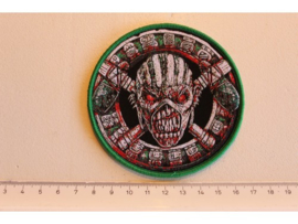 IRON MAIDEN - THE BOOK OF SOULS ( GREEN BORDER ) WOVEN 4