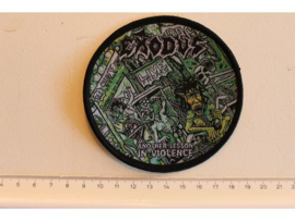 EXODUS - ANOTHER LESSON IN VIOLENCE ( BLACK BORDER ) WOVEN