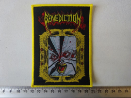 BENEDICTION - FACE WITHOUT SOUL ( WOVEN, YELLOW BORDER )