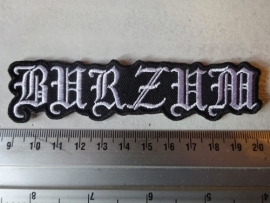 BURZUM - WHITE NAME LOGO ( SHAPED )