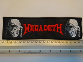 MEGADETH STRIPE - RED NAME LOGO + SKULLS