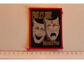 MOTLEY CRUE - THEATRE OF PAIN ( RED BORDER ) WOVEN