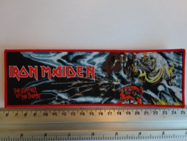 IRON MAIDEN - THE NUMBER OF THE BEAST  ( RED BORDER ) WOVEN STRIPE