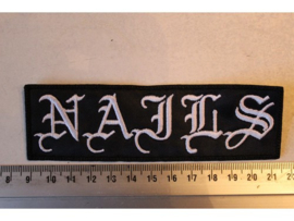 NAILS - WHITE NAME LOGO