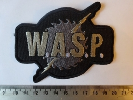 W.A.S.P. - GREY LOGO + SAWBLADE ( SHAPED )