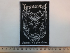 IMMORTAL - NORTHERN CHAOS GODS ( WHITE BORDER ) WOVEN