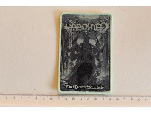 ABORTED - THE NECROTIC MANIFESTO ( LIGHT GREEN BORDER ) WOVEN
