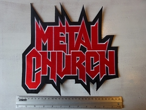 METAL CHURCH - SHAPED RED LOGO