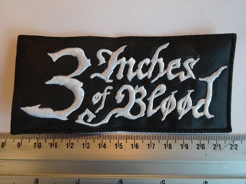 3 INCHES OF BLOOD - WHITE NAME LOGO