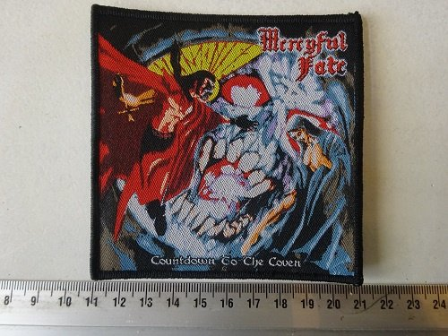 MERCYFUL FATE - COUNTDOWN TO THE COVEN ( WOVEN  BLACK BORDER