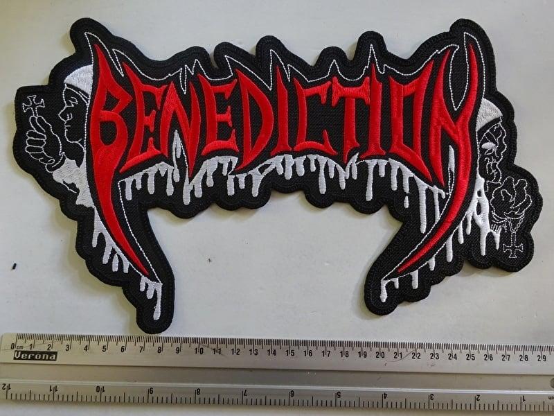 BENEDICTION - RED/WHITE LOGO