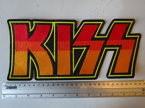 KISS - RED/YELLOW/ORANGE NAME LOGO