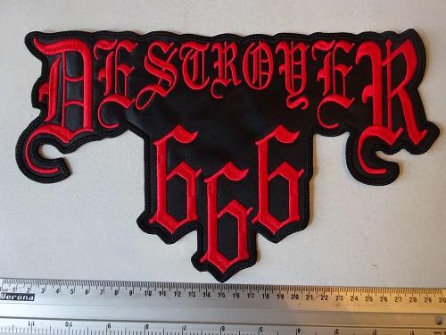 DESTROYER 666 - RED NAME LOGO