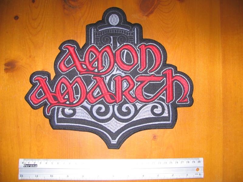 AMON AMARTH - RED LOGO + THOR HAMMER