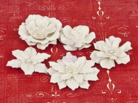571955 Prima HOLIDAY JUBILEE Christmas Flower White