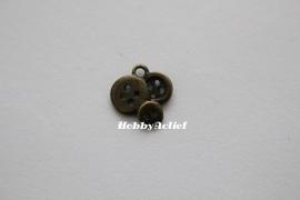 Knoopjes brons -15x14 mm