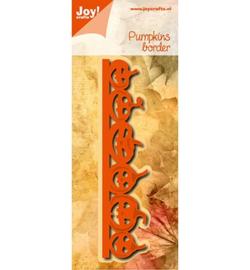 6002/1027 - Snij-embosstencil - Noor - Rand Halloweenpompoenen