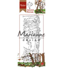 Marianne Design HT1636 - Hetty's border: Autumn forest