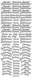 Starform 223 zilver Tekst NL: Hartelijk Gefeliciteerd 4