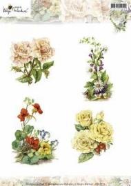 CD10714 3D Knipvel - Studio Martare - Pictures - Gekleurde bloemen